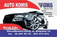 Autokomis - Goczałkowice-Zdrój - AUTO KOMIS FOKS Rok Założenia 1992